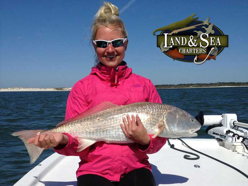 Redfish and Her Angler